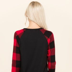 Tops - PLUS SIZE Buffalo Plaid French Terry Top